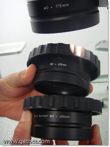 Working distance as you like it: three different lenses available (175/200/225mm).